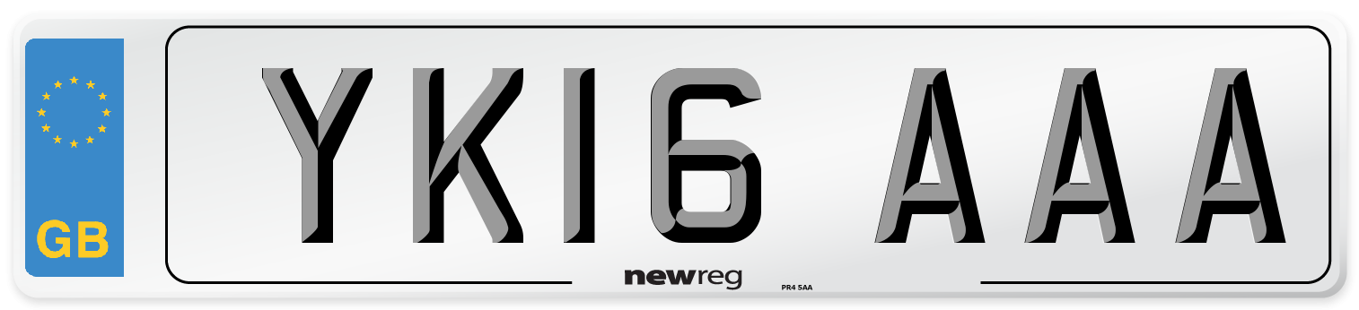 YK16 AAA Number Plate from New Reg