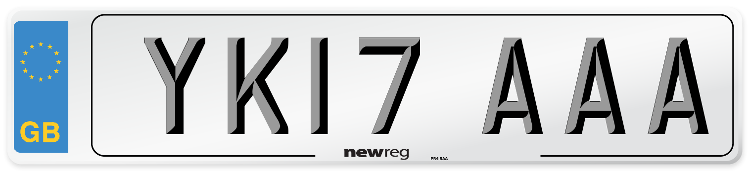 YK17 AAA Number Plate from New Reg