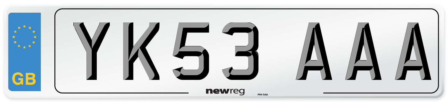 YK53 AAA Number Plate from New Reg