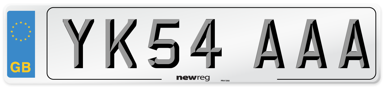 YK54 AAA Number Plate from New Reg