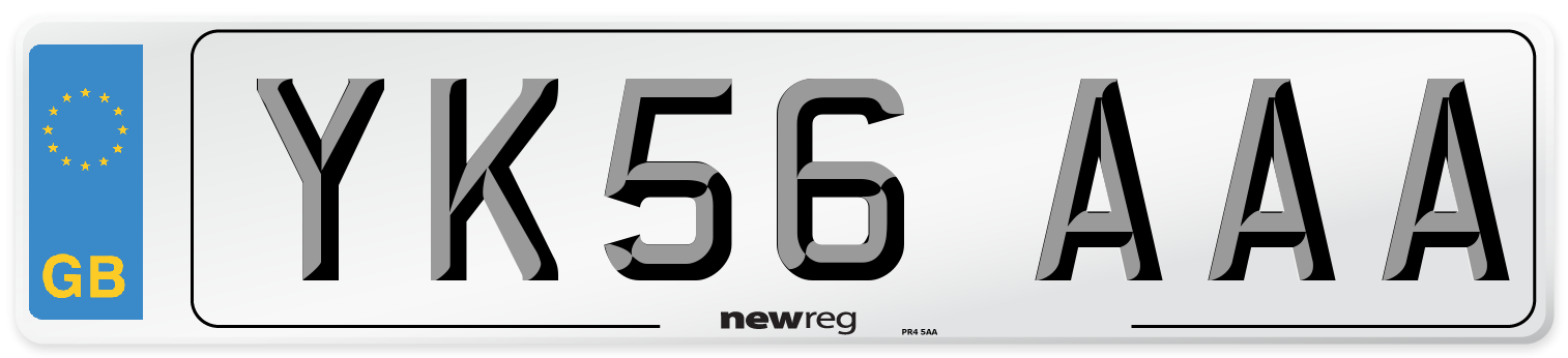 YK56 AAA Number Plate from New Reg