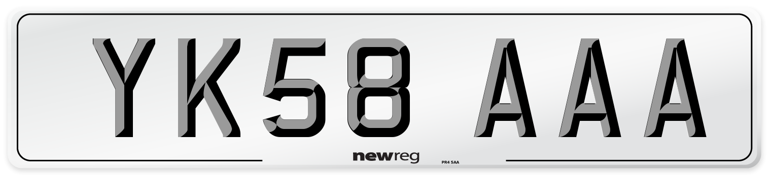 YK58 AAA Number Plate from New Reg