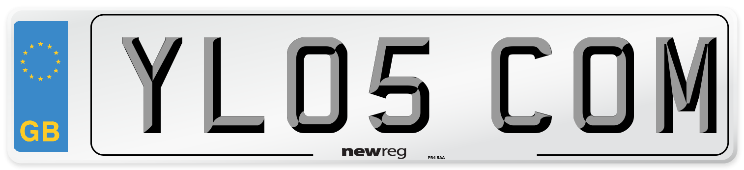 YL05 COM Number Plate from New Reg