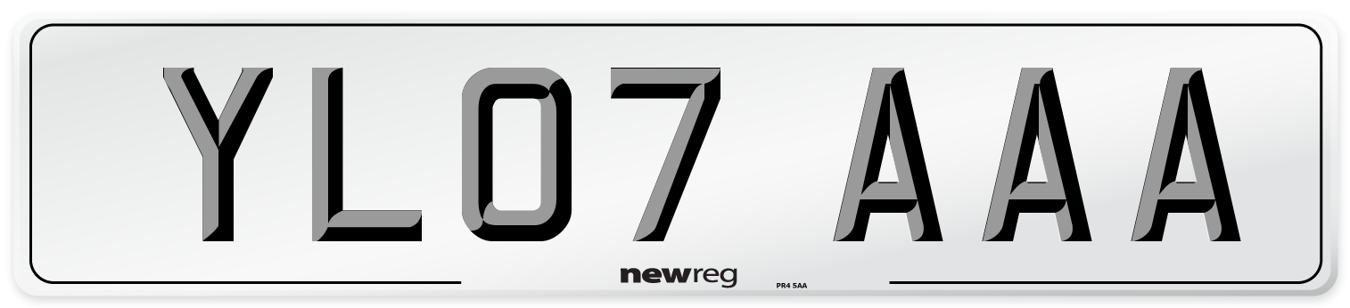YL07 AAA Number Plate from New Reg