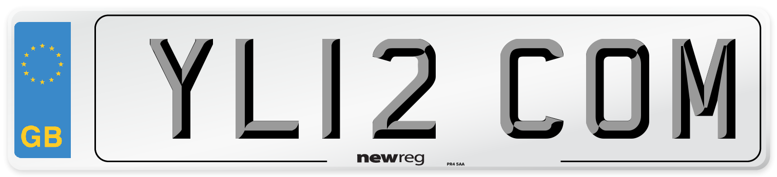 YL12 COM Number Plate from New Reg