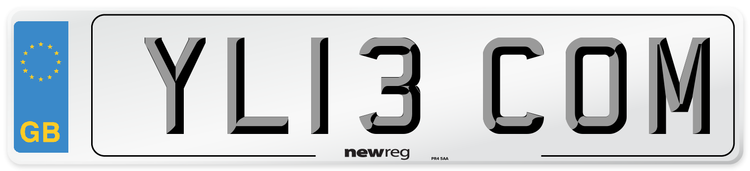 YL13 COM Number Plate from New Reg