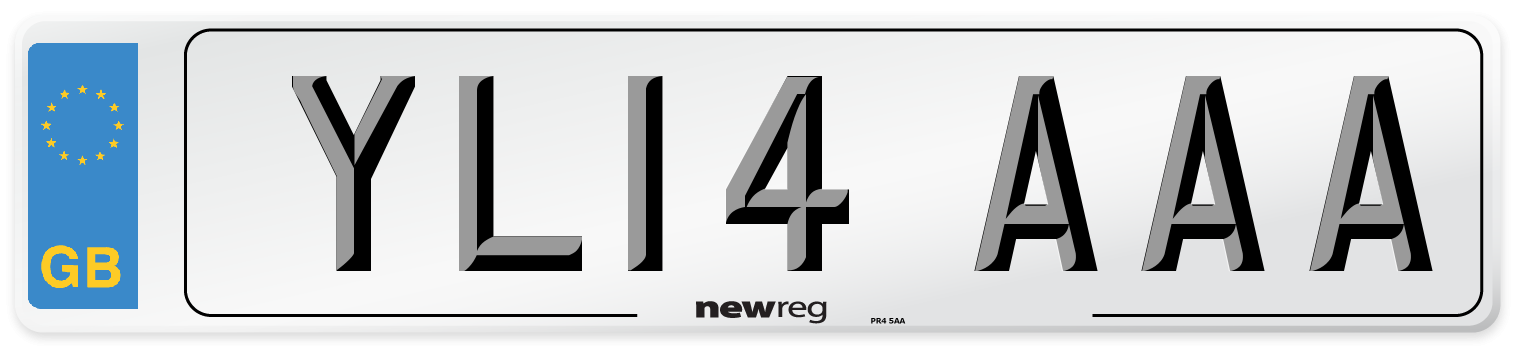 YL14 AAA Number Plate from New Reg