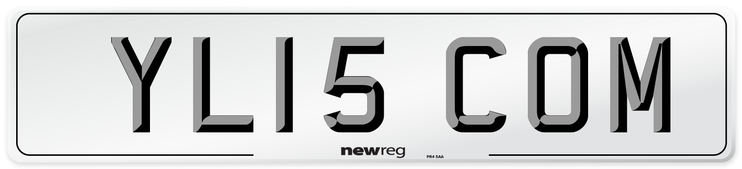 YL15 COM Number Plate from New Reg