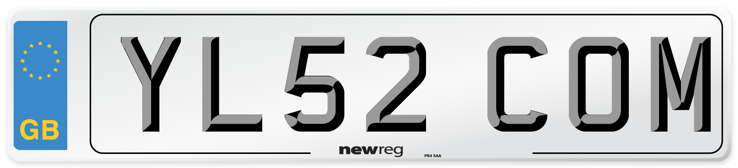YL52 COM Number Plate from New Reg