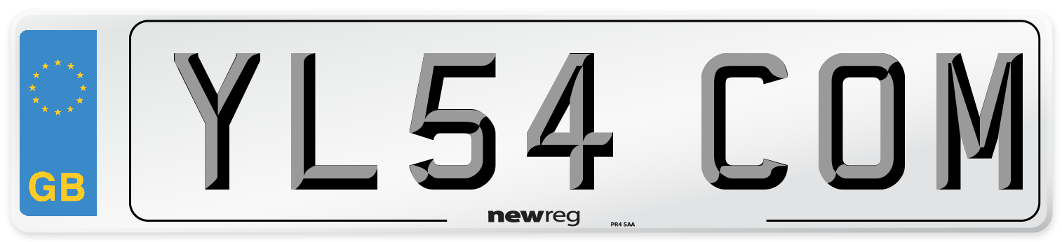 YL54 COM Number Plate from New Reg