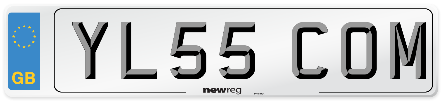 YL55 COM Number Plate from New Reg