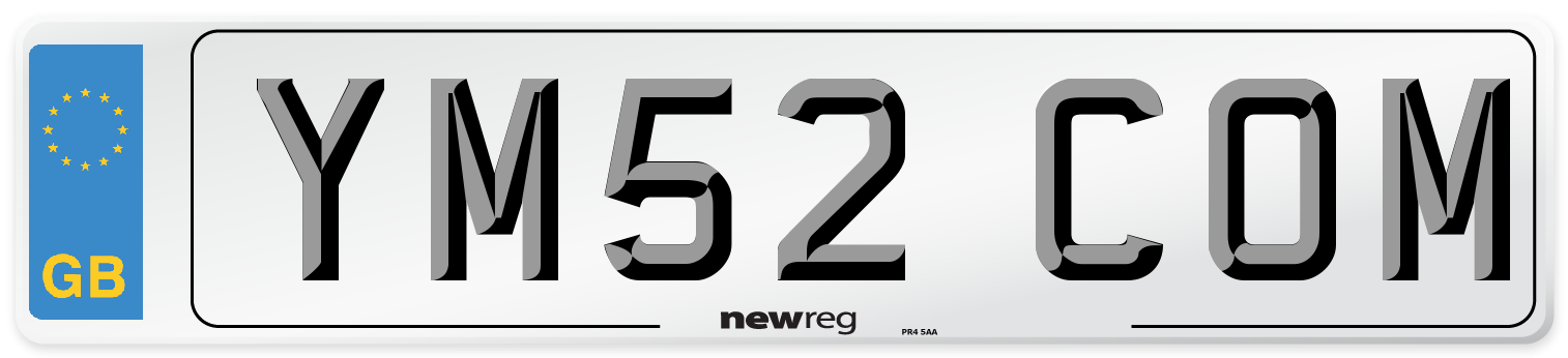 YM52 COM Number Plate from New Reg