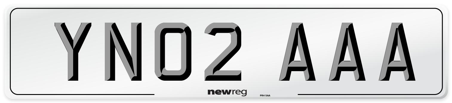 YN02 AAA Number Plate from New Reg