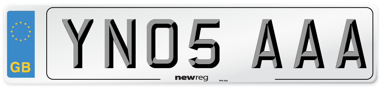 YN05 AAA Number Plate from New Reg