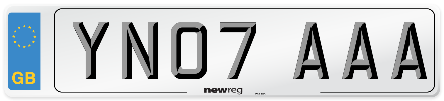 YN07 AAA Number Plate from New Reg