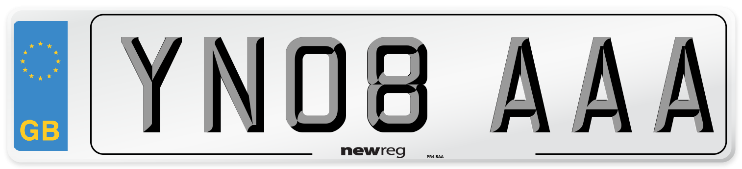 YN08 AAA Number Plate from New Reg