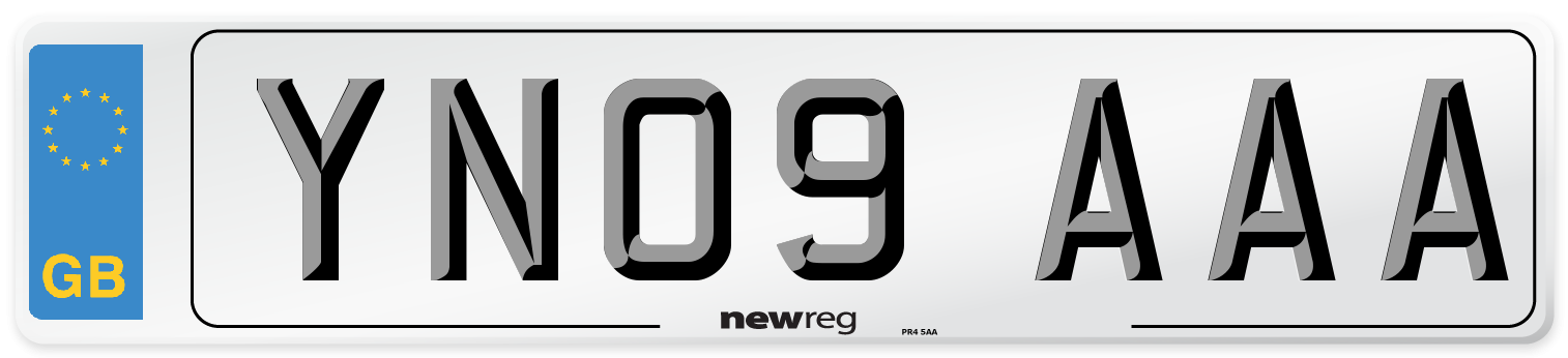 YN09 AAA Number Plate from New Reg