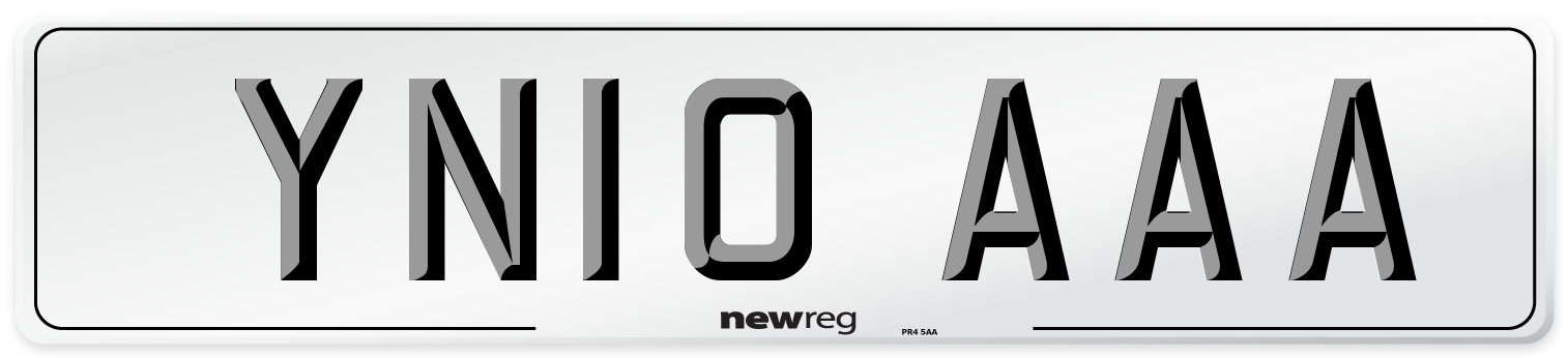 YN10 AAA Number Plate from New Reg
