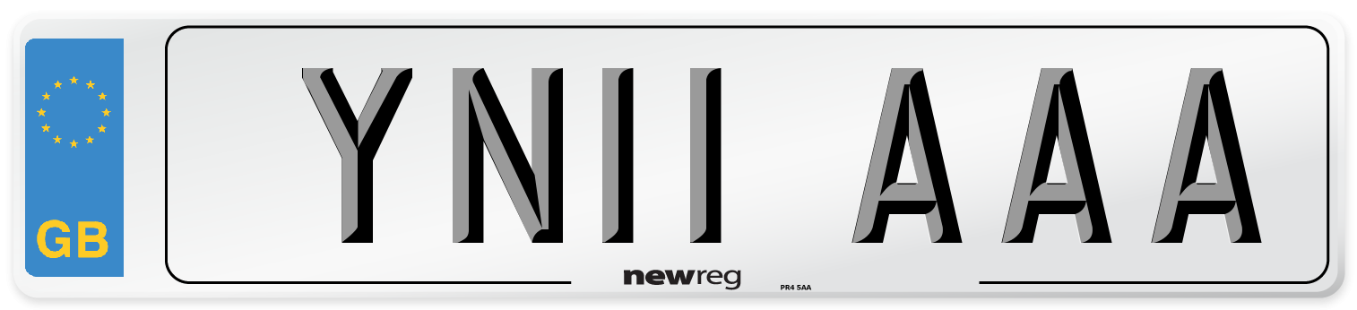 YN11 AAA Number Plate from New Reg