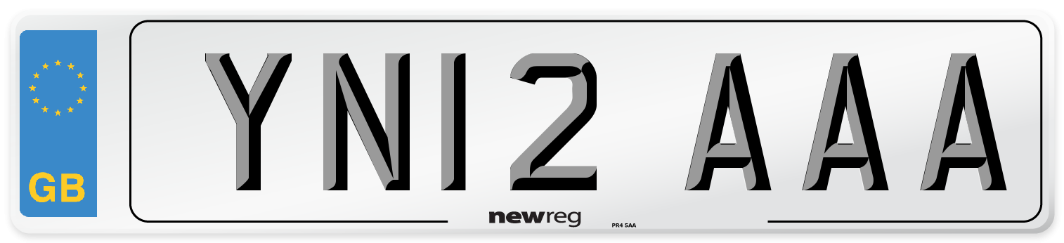 YN12 AAA Number Plate from New Reg