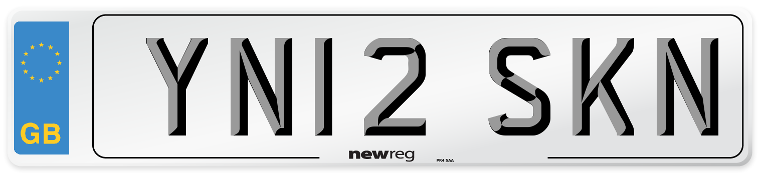 YN12 SKN Number Plate from New Reg