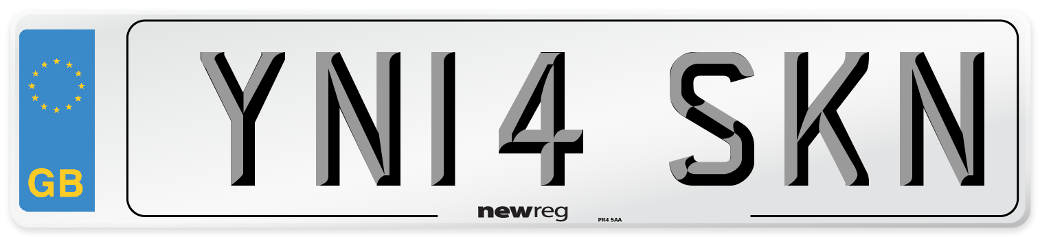 YN14 SKN Number Plate from New Reg
