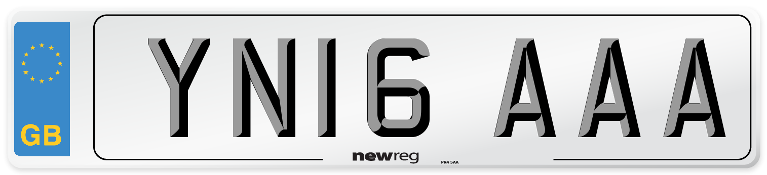 YN16 AAA Number Plate from New Reg