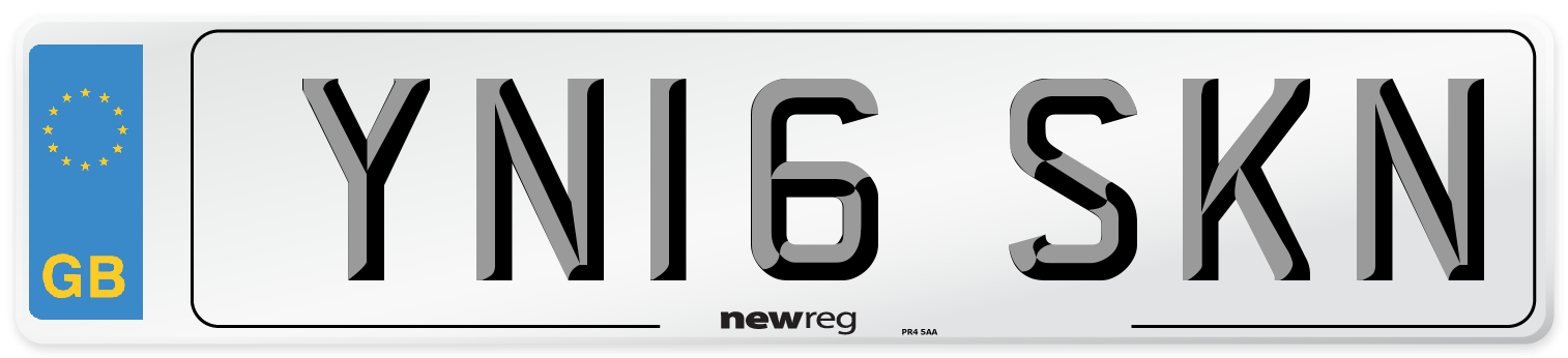 YN16 SKN Number Plate from New Reg