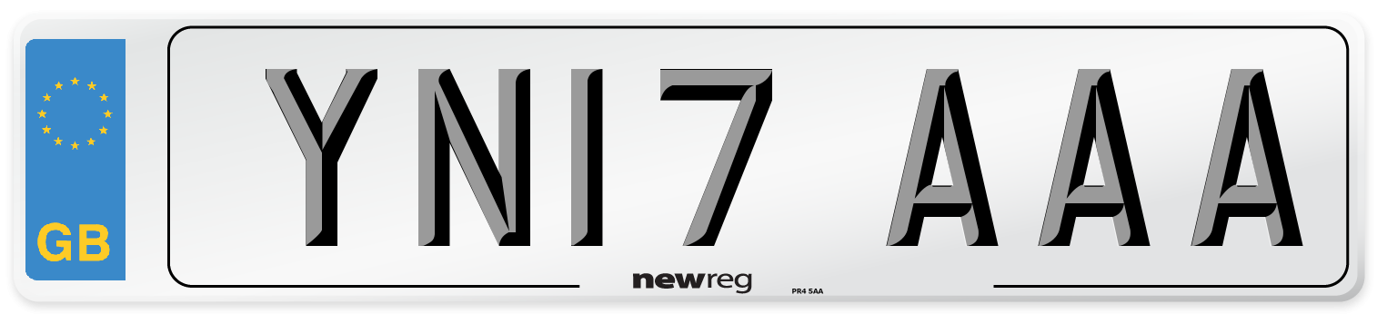 YN17 AAA Number Plate from New Reg