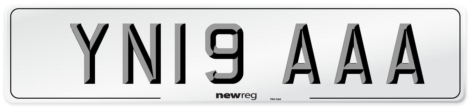 YN19 AAA Number Plate from New Reg