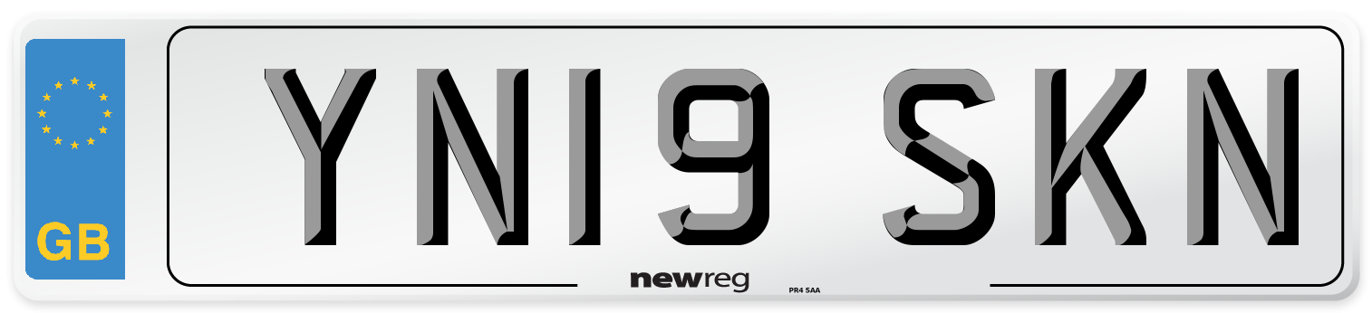 YN19 SKN Number Plate from New Reg