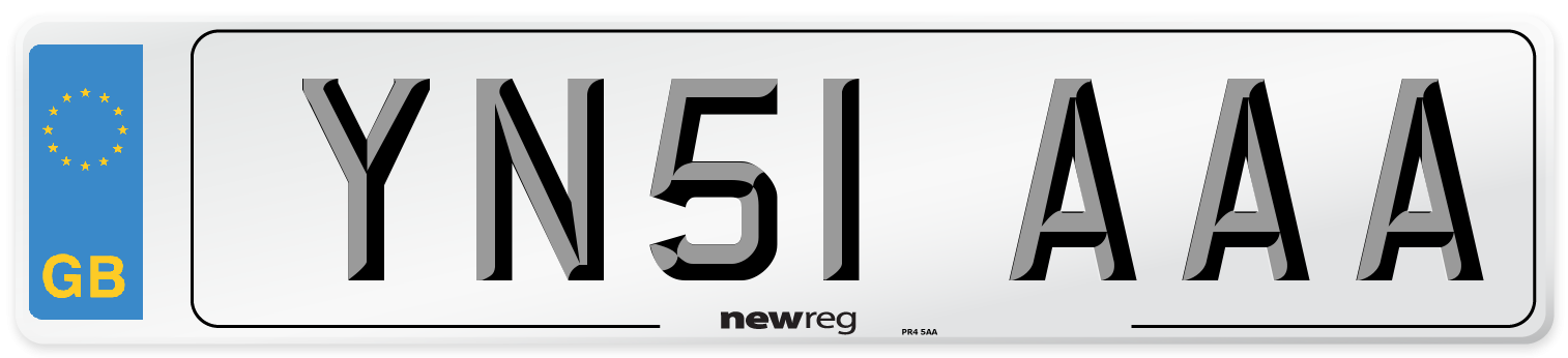 YN51 AAA Number Plate from New Reg