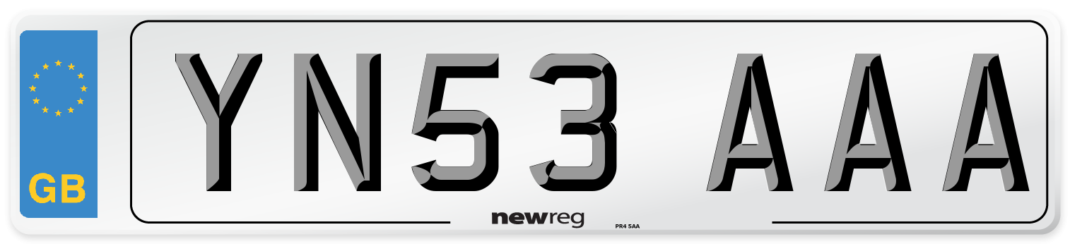 YN53 AAA Number Plate from New Reg