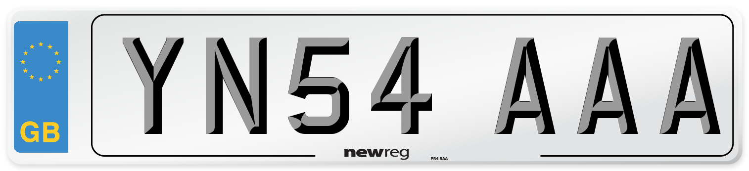 YN54 AAA Number Plate from New Reg