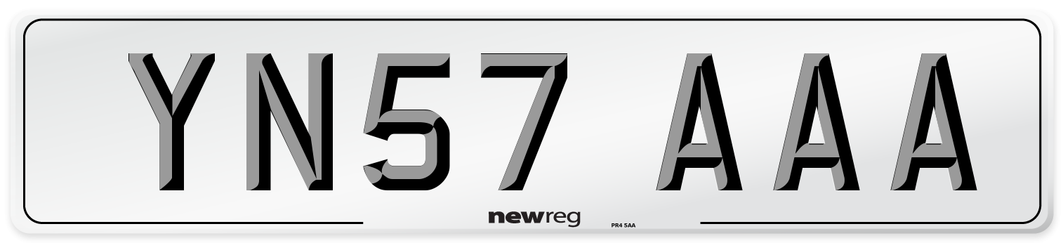 YN57 AAA Number Plate from New Reg
