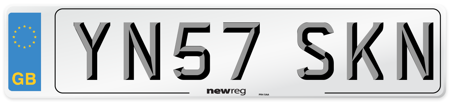 YN57 SKN Number Plate from New Reg