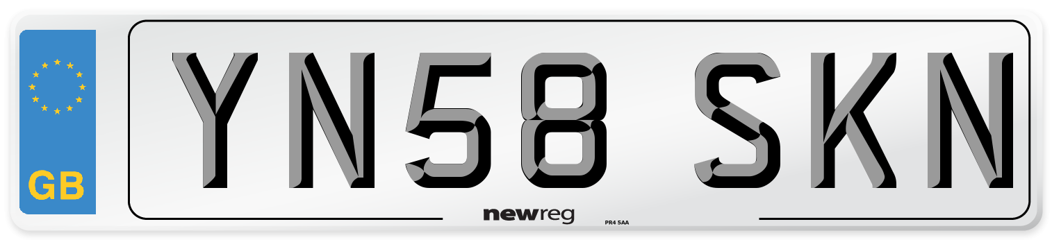 YN58 SKN Number Plate from New Reg