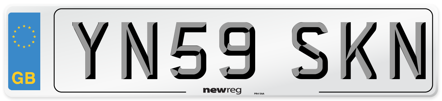 YN59 SKN Number Plate from New Reg