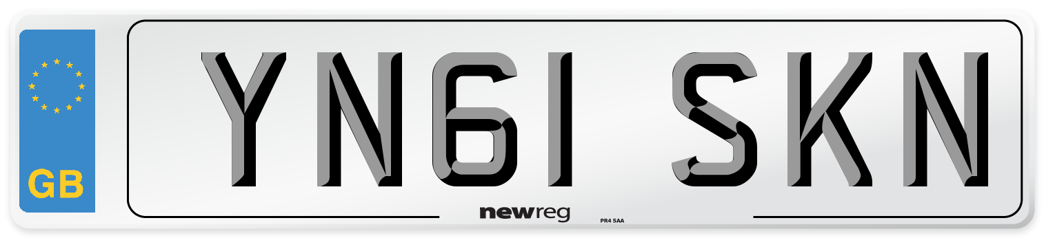YN61 SKN Number Plate from New Reg