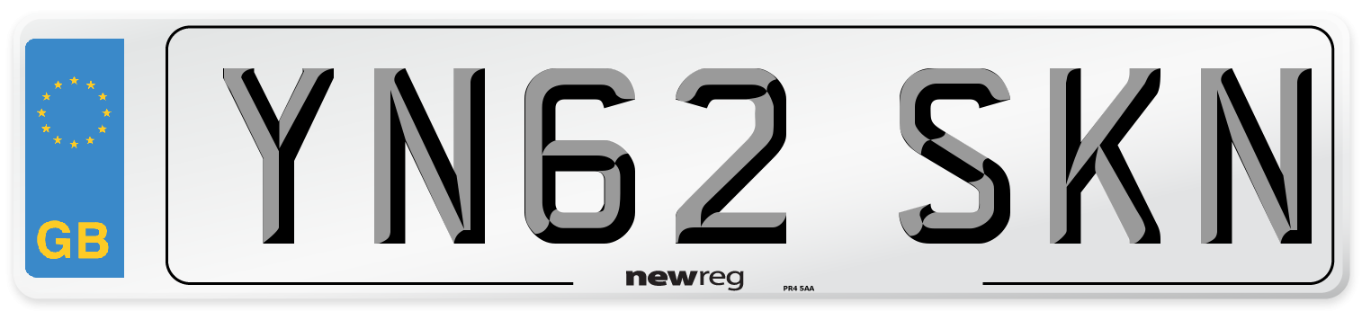 YN62 SKN Number Plate from New Reg