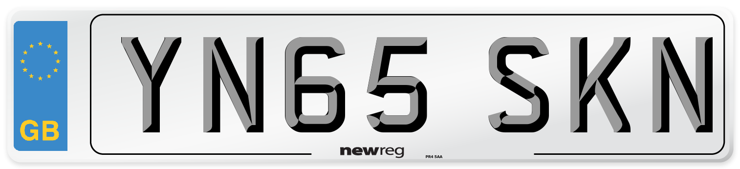 YN65 SKN Number Plate from New Reg