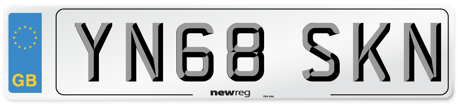 YN68 SKN Number Plate from New Reg