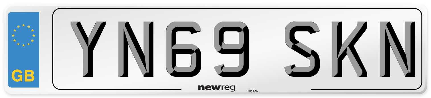 YN69 SKN Number Plate from New Reg