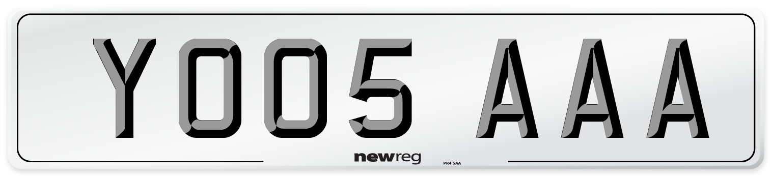 YO05 AAA Number Plate from New Reg