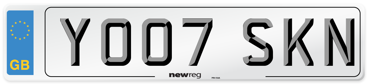 YO07 SKN Number Plate from New Reg