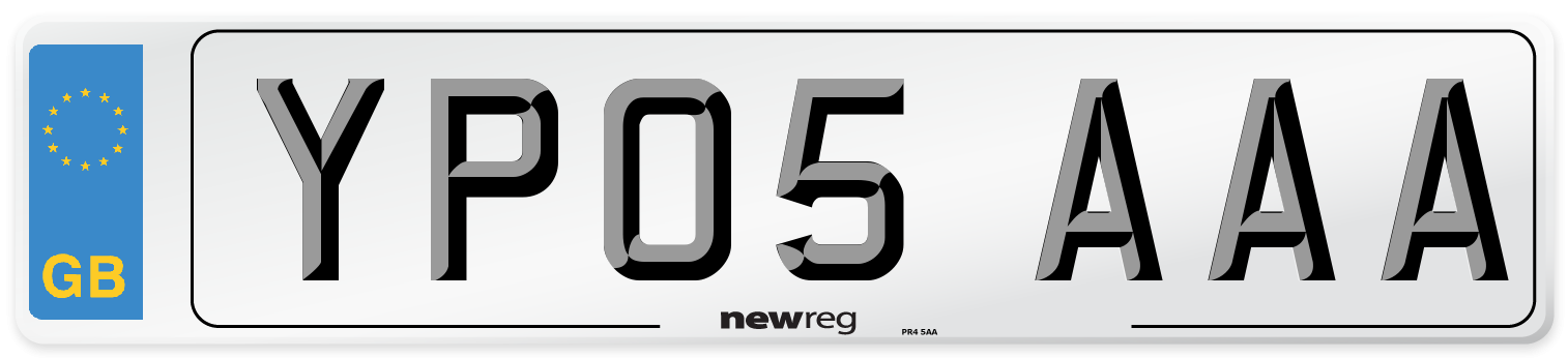 YP05 AAA Number Plate from New Reg