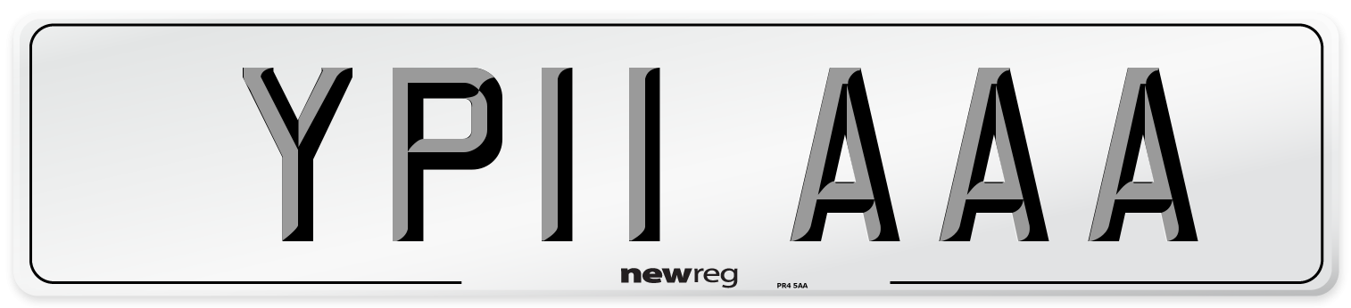 YP11 AAA Number Plate from New Reg