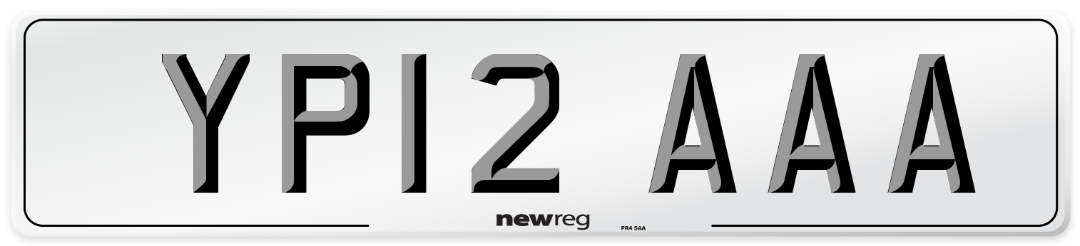 YP12 AAA Number Plate from New Reg