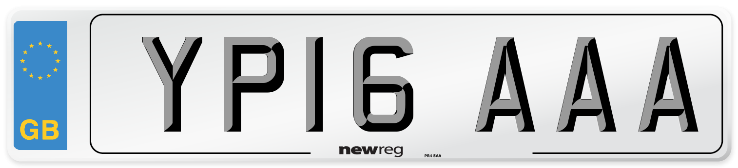 YP16 AAA Number Plate from New Reg