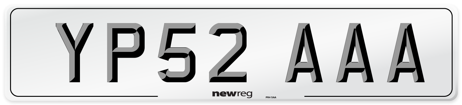 YP52 AAA Number Plate from New Reg
